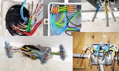 Соединение алюминиевых проводов в распределительной коробке
