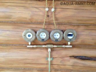 Наружная проводка в деревянном доме