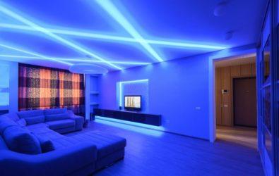 Освещение потолков светодиодами