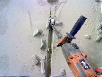 Лопатка для штробления стен под проводку
