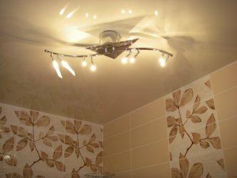 Люстры для ванной комнаты с натяжным потолком