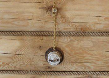 Кабель для внутренней проводки в деревянном доме