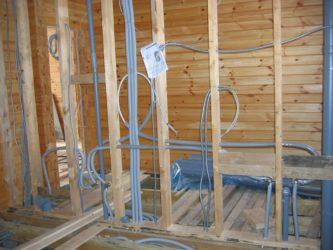 Монтаж проводки в каркасном доме