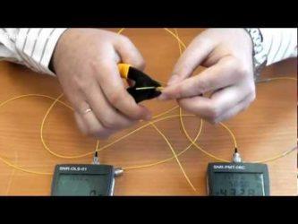 Соединение оптоволоконного кабеля своими руками