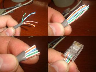 Соединение интернет кабеля между собой