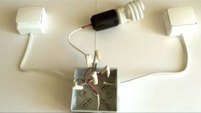 Как сделать проходной выключатель света из обычного?