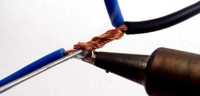 Разделка лужение пайка и соединение проводов
