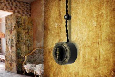 Декоративная проводка под старину