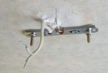Как закрепить люстру на бетонном потолке?