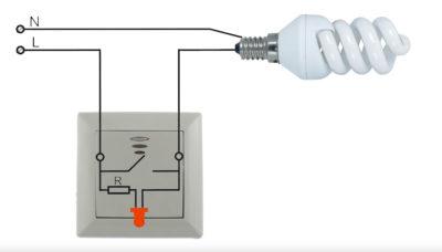 Выключатель света с подсветкой и светодиодные лампы
