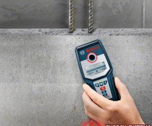 Прибор для поиска труб в стене