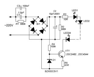 Стабилизатор тока светодиодов на 220 вольт