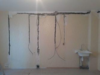 Монтаж проводки на кухне