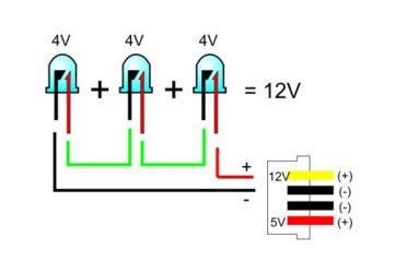 Последовательное соединение светодиодов на 12 вольт
