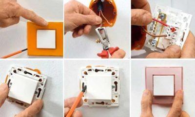 Как открыть выключатель света одноклавишный?