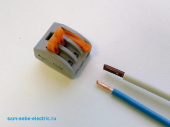 Соединение кабелей разного сечения