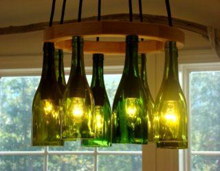 Люстра из винных бутылок