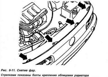 Снятие и установка приборов электрооборудования
