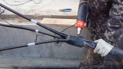 Муфта для соединения кабеля в земле