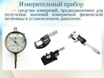 Виды измерительных приборов в метрологии