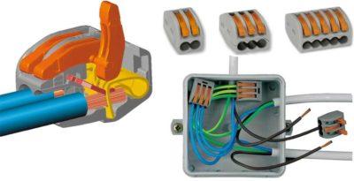 Пружинные клеммы для соединения проводов