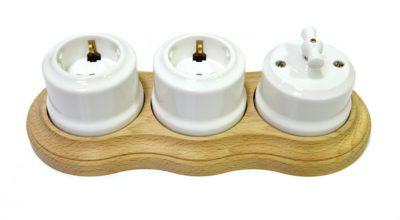 Накладные выключатели и розетки для открытой проводки