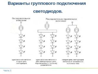 Ток при последовательном соединении светодиодов