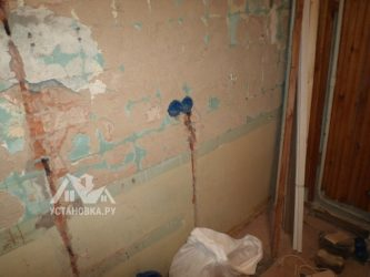 Замена проводки в квартире без штробления