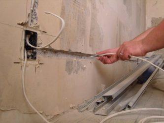 Как поменять проводку на кухне?