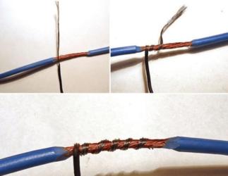 Соединение монтажных проводов с использованием скрутки