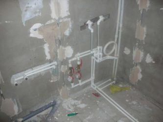 Монтаж проводки в ванной