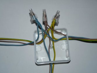 Методы соединения проводов в распределительной коробке