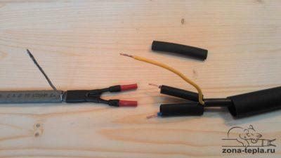 Соединение греющего кабеля между собой