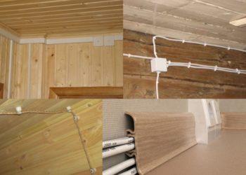 Открытая проводка в деревянном доме своими руками