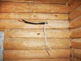 Скрытая проводка в бревенчатом доме