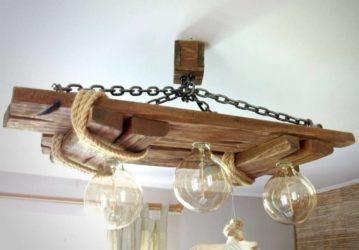 Люстра на кухню из дерева своими руками