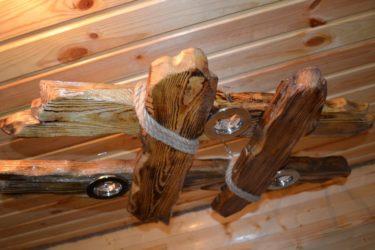 Люстра в баню своими руками из дерева