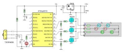 Управление светодиодами на микроконтроллере