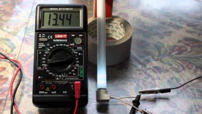 Как проверить стартер лампы дневного света мультиметром?