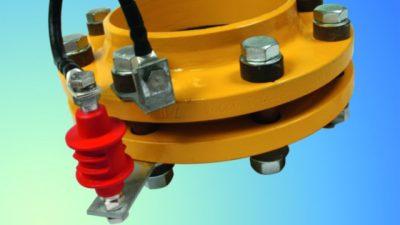 Токопроводящие перемычки на фланцевых соединениях газопровода
