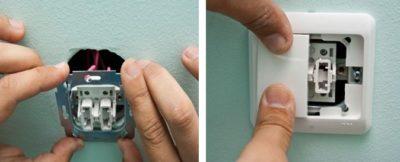 Как собрать выключатель света с двумя клавишами?