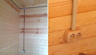 Как сделать открытую проводку в деревянном доме?