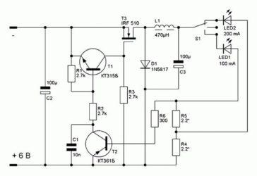 Импульсный стабилизатор тока для светодиодов своими руками