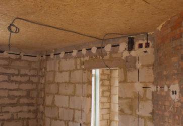 Проводка в доме из газобетона своими руками