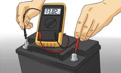 Прибор для измерения напряжения в аккумуляторе