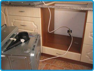 Проводка для электроплиты и духового шкафа