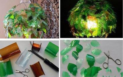 Как сделать люстру из пластиковых бутылок?