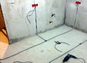 Штробить пол под проводку