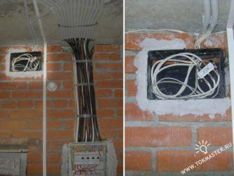 Проводка телевизионного кабеля
