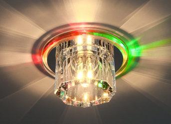 Люстры со светодиодными лампами для натяжных потолков